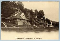 Encampment Headquarters At The Weirsnew Hampshirenhcottagespostcard Pre-1908