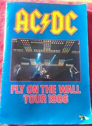 Authentic Ac/dc Autographed 1986 Fly On The Wall Touring Book