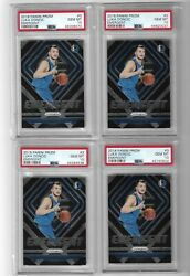 4 2018-19 Panini Prizm Emergent Luka Doncic Rookie Year Cards 3 Psa 10
