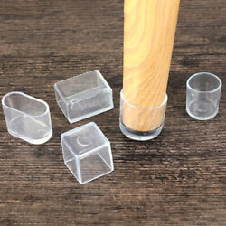 4pcs Chair Leg Caps Rubber Feet Protector Pads Furniture Table Covers Sock Wf