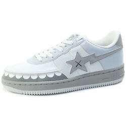 A Bathing Ape X Kaws Bapesta Sneakers Gray Us 9.5 Used W/box From Japan F/s