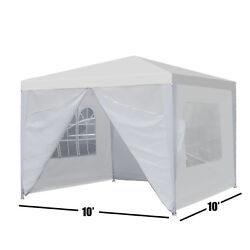 10'x10' Carport Garage Car Shelter Canopy Outdoor Tent Sidewall With Windows