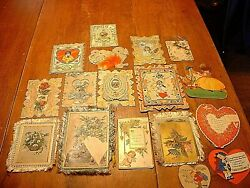 Lot Of 18 Antique Victorian And Vintage Valentine14 Christmas3 Easter1 Cards