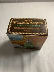Whale Oil Lantern Avon Vintage Tai Winds Aftershave Decanter Nos In Box 5 Fl Oz