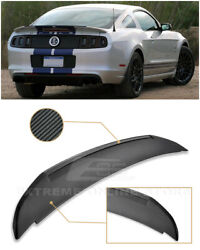 For 10-14 Ford Mustang | Gt500 Style Carbon Fiber Rear Trunk Lid Wing Spoiler
