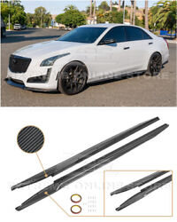 Eos For 14-19 Cadillac Cts | Carbon Fiber Package Side Skirts Rocker Panels Kits