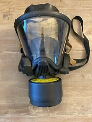 Msa Ultra Elite Fire Fighter/gas Mask Size Medium - Excellent Condition