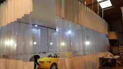 Industrial Workshop Painting Room Curtains With Heavy Duty Industrial Track