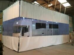 White Clear Horse Trailer Manufacturer Workshop Curtains And Heavy Duty Track