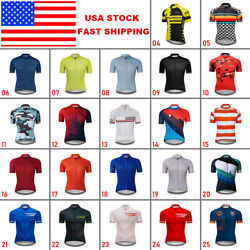 Menand039s Bike Cycling Short Sleeve Jersey Bicycle Tops Maillots Shirt Jerseys Team