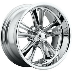 4 - 17x8 Chrome Wheel Foose Knuckle F097 5x4.5 1