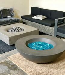 Bali 42 Inch Propane/ng Gas Fire Pit Table Square Or Rnd Concrete Lt Or Drk Grey