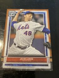 2020 Topps Museum Collection Jacob Degrom Bronze Border Card Mets