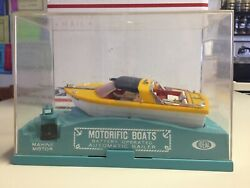 Vintage Ideal Motorific Boat Whirl-a-way Runabout With Original Case