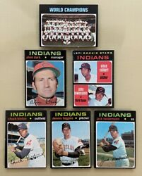 1971 Topps Indians Lot 15 Vada Pinson Sam Mcdowell + 4 Rookie Cards Nm-mt