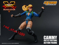 Storm Toys 1/12 Cammy Arcade Edition Battle Costume 112 Figure W/ 3 Heads Toy