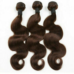 3/4/5bundles Peruvian Virgin Human Hair 2 Dark Brown Body Wave 12aa Fast Ship