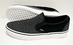 Classic Slip On Suede And Suiting Black Vn0a38f7osn Men's Size 9