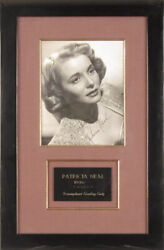 Patricia Neal - Inscribed Photograph Signed