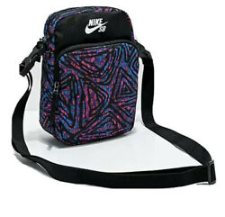 Nike SB Heritage Smith Laser Blue Pink amp; Black Crossbody Shoulder Bag BA6600 010 $32.99