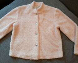 Coldwater Creek Gorgeous Light Pink Textured Cropped Soft Jacket •size Small•