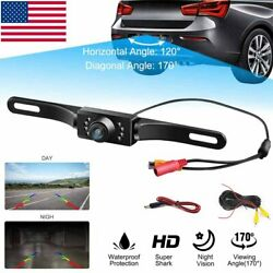 170° Car Rear View Backup Parking Reverse Camera CMOS HD Night Vision Waterproof $10.99