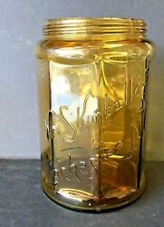 Antique Wm. S. Kimball And Co. Rochester Ny Amber Glass Tobacco Jar/humidor