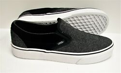 Classic Slip On Suede And Suiting Black Vn0a38f7osn Men's Size 8.5