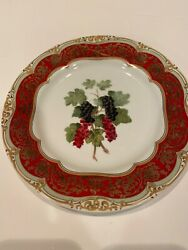 """Winterthur Andrea By Sadek Fruit Plate Grapes Berries Collectable Decor 8.5"""""""