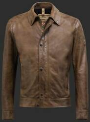 Matchless Brown Captain Leather Jacket Xxxl / 3xl Rrp1135 Gbp New