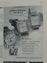 1948 Universal Geneve Wrist Watch For Him Men's Vintage Jewelry Ad