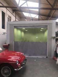 Uk Made To Measure Factory Workshop Curtains Dividers Grey And Clear 12ft W 9ft H