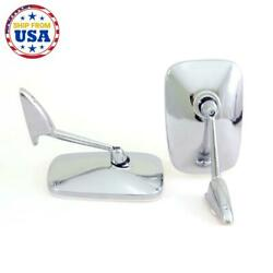 Fit Chevrolet Chevy Ii Nova Ss 350 Chrome Door Mirrors Set Lh Rh 2 Pcs 1961-1979