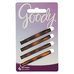 Goody Hair Classics Stay Tight Hair Barrette Mock Tort 4-count 2-in