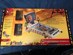 Marvel's Spider-man 2 Electronic Tabletop Pinball Game Lights And Sounds Excellent