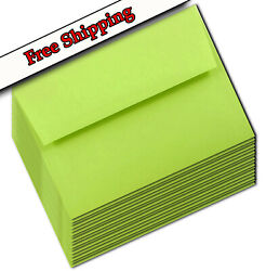 Lime Green A7 Envelopes 5-1/4 X 7-1/4 For Up To 5 X 7 Greeting Cards Response