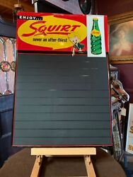 Nos 27 Tin Embossed Squirt Soda 1950's Advertising Menu Sign  Watch Video