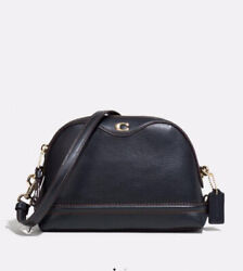 New Coach 37863 Leather IVIE Small Messenger Crossbody Bag Black Gold $129.00