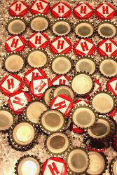 11,000 Full Case Harpoon Brewery Beer Bottle Caps Red White Uncrimped Free Shipn