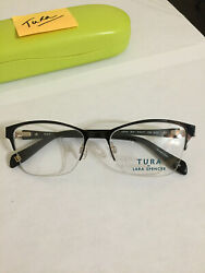 Eyeglass Frames Tura by Lara Spencer quot;LS119quot; 51 17 Black Gold $40.00