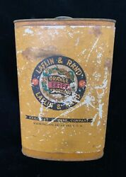 Antique Advertising Empty Powder Tin Can Laflin And Rand Powder Co For Shotguns