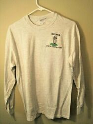 Indiana Jobs Daughters Long Sleeve T Gray Size Adult 38-40 Logo Lighthouse