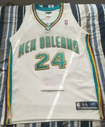 Reebok Jamal Mashburn Authentic Home Jersey New Orleans Hornets Size 44 L Nba No
