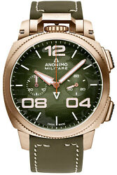Watch Man Anonimo Militare Am112301002a05 Leather Green