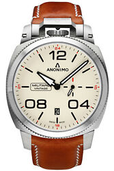 Watch Man Anonimo Militare Am102101001a02 Leather Marr — N