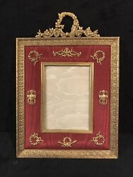 Antique Large Imperial French Gilt Bronze Picture Frame-328e