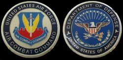 Us Air Force Air Combat Command Acc Challenge Coin Military Coins New