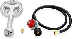 Hp Cast Iron Round Propane Burner Head With 4ft 20 Psi Regulator And Hose Fittings