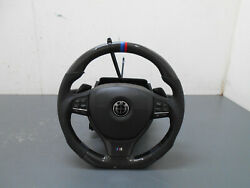 2013 12 13 14 15 16 Bmw M5 F10 Carbon Perforated Steering Wheel / Column 3018