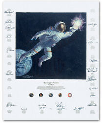 Reaching For The Stars - By Alan Bean - 24 Astronaut Signatures
